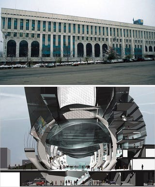 Illustration for article titled Kazakhstan's Republic Square: Before and After