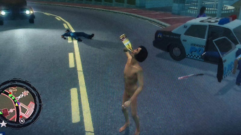 Illustration for article titled Japanese Singer's Naked, Drunk Rampage... In Saints Row 2