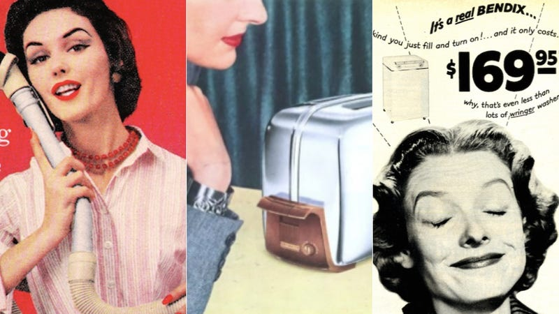 Illustration for article titled According to Advertising, the 1950s Woman Wanted to Fuck Her Appliances