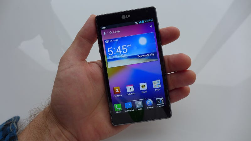 Illustration for article titled LG Optimus G Hands-On: Like Megan Fox Wrapped In Burlap