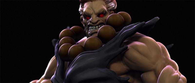 Illustration for article titled Check Out This Awesome Akuma Statue