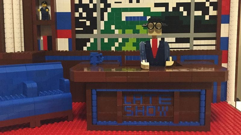 LEGO recreation of the Late Show With Stephen Colbert set. (Image: Maxwell Bauman)