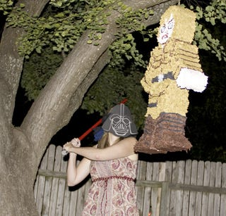 Illustration for article titled How to make a Luke Skywalker piñata (complete with a severed hand)