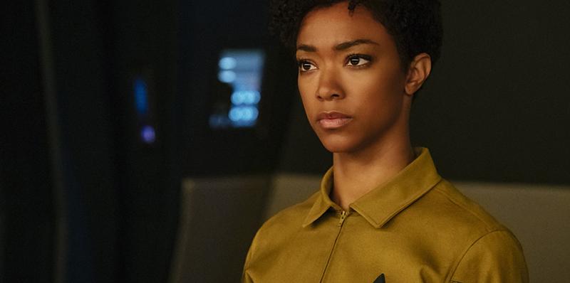 Sonequa Martin-Green as Star Trek: Discovery's conflicted Michael Burnham.