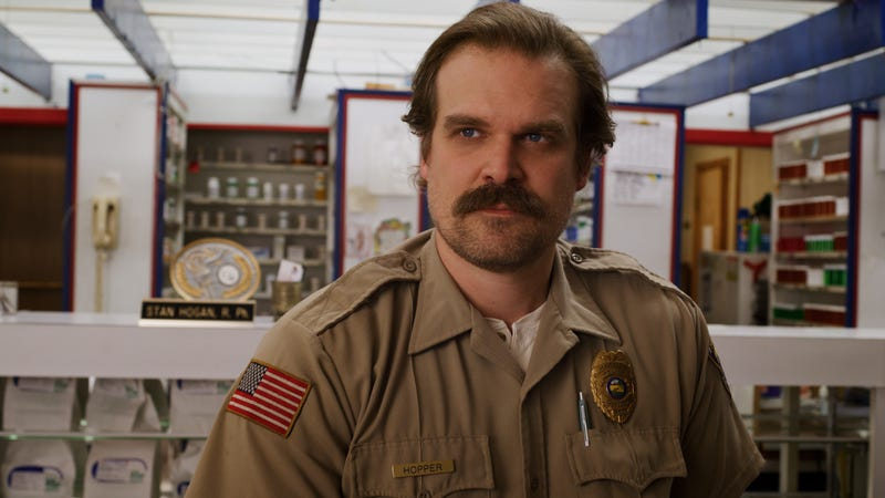Illustration for article titled David Harbour doubts that Stranger Things post-credits scene theory, but come on