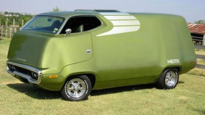 Illustration for article titled If You Can't Buy A Plymouth RoadRunner Van, Photoshop One