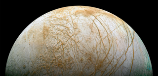 Illustration for article titled The Mysterious Bands Crisscrossing Jupiter's Moon Europa May Be Sea Salt