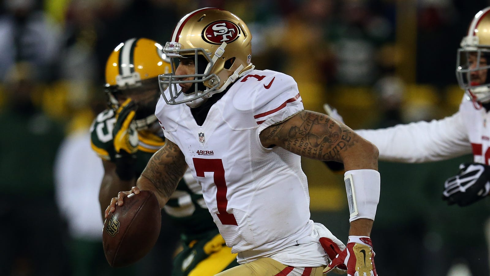huge discount c3a1a e7936 Colin Kaepernick Somehow Left Off 49ers Gallery Celebrating ...