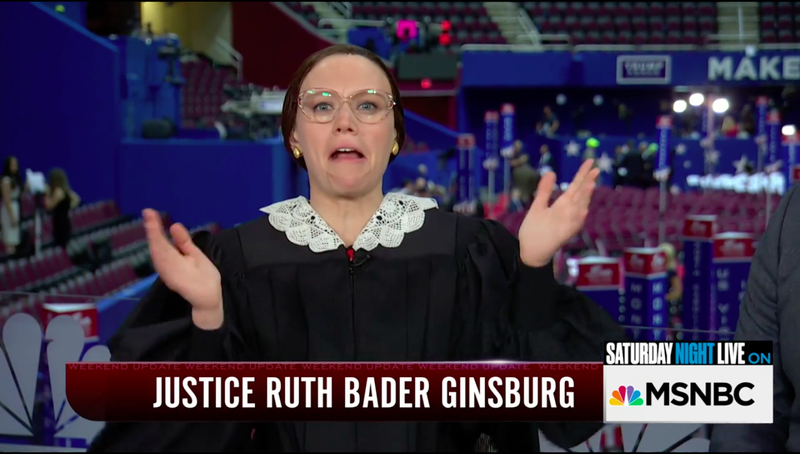 Watch Kate McKinnon's Delightfully Unhinged Ruth Bader Ginsburg Impression on SNL