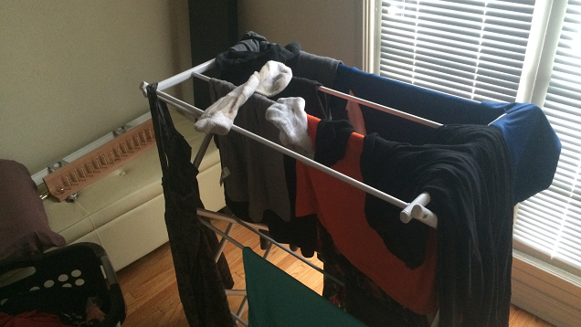 Increase humidity without a humidifier by hang drying for Bedroom 80 humidity