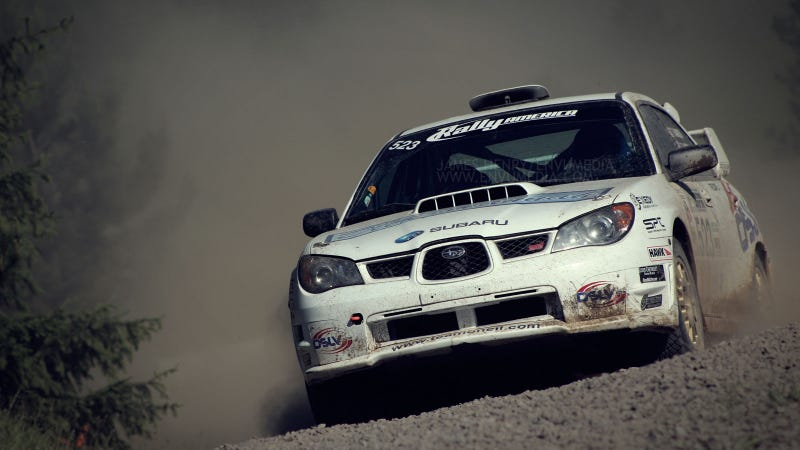 Illustration for article titled Your ridiculously dirty Subaru WRX STI wallpaper is here
