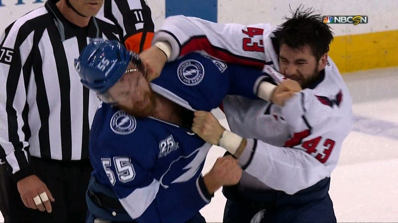 Illustration for article titled Braydon Coburn Made The Mistake Of Trying To Fight Tom Wilson