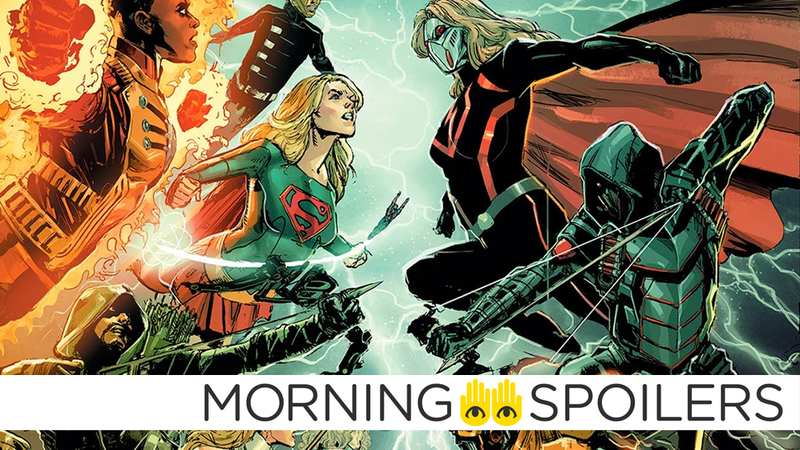 Illustration for article titled New Set Pictures Reveal the Villainous Versions of Green Arrow and Supergirl In the CW's DC Crossover