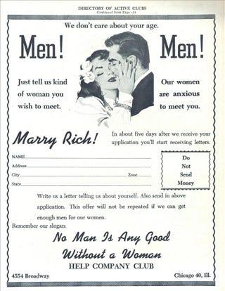 Illustration for article titled Men! Men!