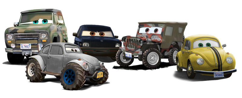 Illustration for article titled One Of Our Readers Pixar-ized Our Cars!