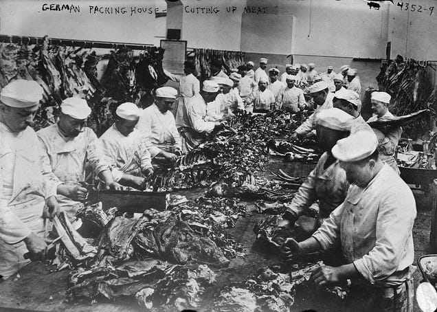 Utterly Disturbing Century Old Photos Of Meat Packing