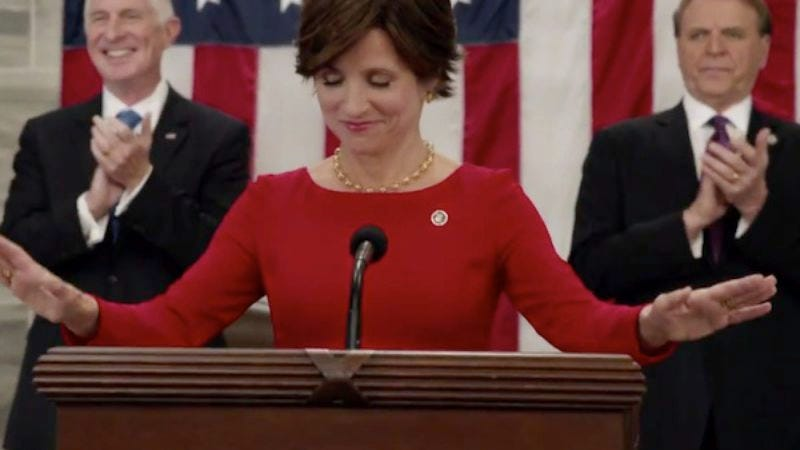 Illustration for article titled Election night holds President Selina Meyer's fate in its twisted hands