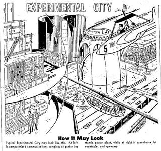Illustration for article titled Experimental City of the Future (1967)