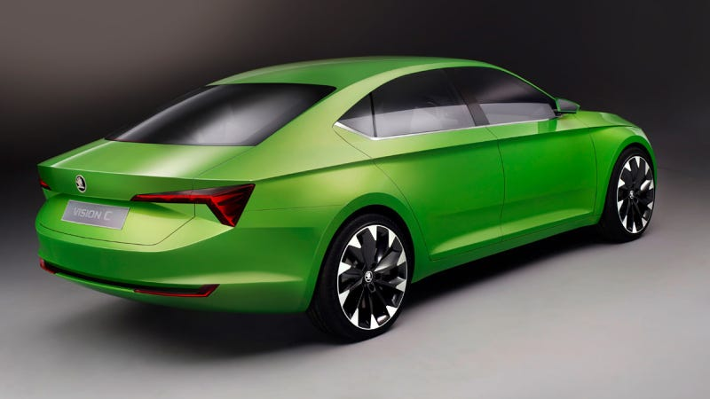 Illustration for article titled The Skoda VisionC Concept Is An Audi A7 For The Common Man