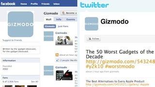 Illustration for article titled Fan Giz Facebook, Follow Giz Twitter