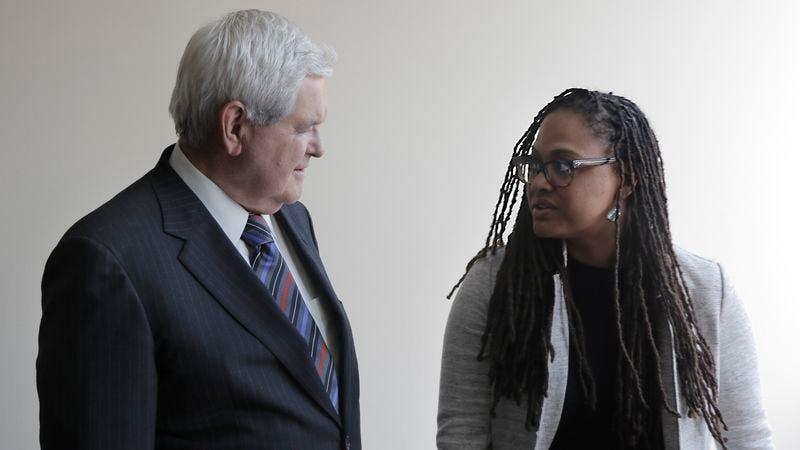 Newt Gingrich, Ava DuVernay (Photo: Netflix)