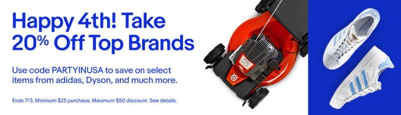 20% de descuento en compras de más de $25 | eBay | Descuentos de hasta $50 | Usa el código PARTYINUSAImagen: eBay