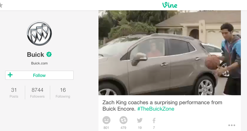 Illustration for article titled Buick Is All Over Vine Now, Because Millennials