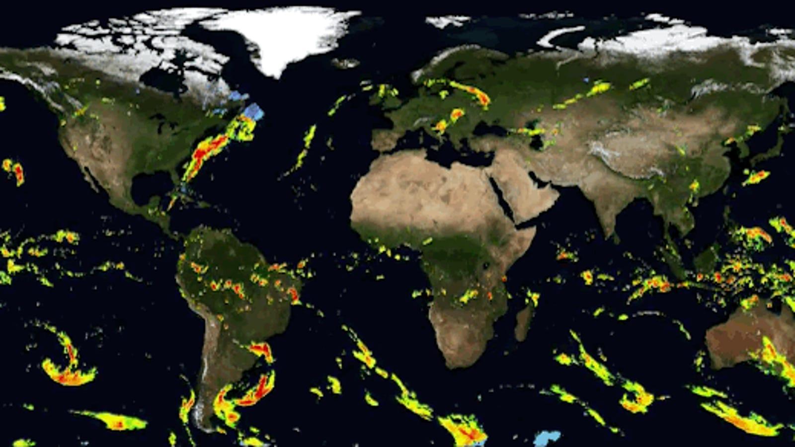 Cómo viajan las tormentas a través del mundo, visualizado