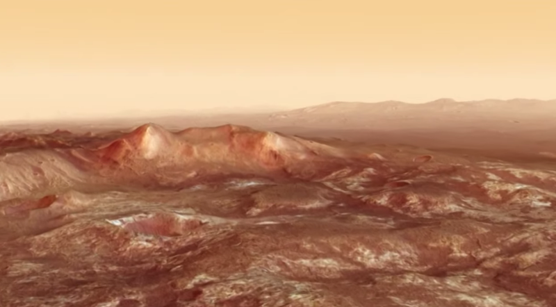 Illustration for article titled Martian Chaos Terrain Is Some of the Strangest Geology in the Universe