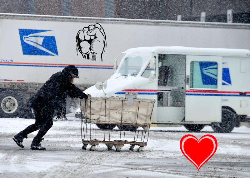 Photo via AP. The love comes free.
