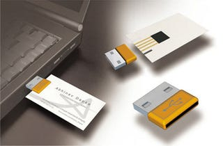 Mcard combines a business card with usb storage the benefits of combining usb storage with a business card are obvious for one thing it will get you noticed and make your card less dispensable colourmoves