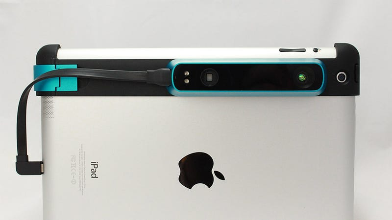 Illustration for article titled This Tiny Mobile 3D Scanner Snaps Right Onto Your iPad