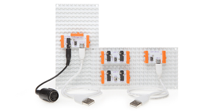 Illustration for article titled littleBits' Tiny Toy Synth Kit Now Works With MIDI and USB