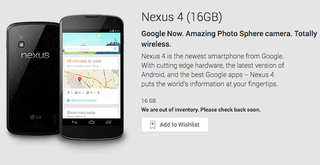 Illustration for article titled The Nexus 4 Is Completely Sold Out and Supposedly Never Coming Back