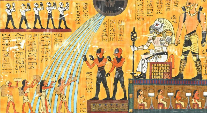 Illustration for article titled Mad Max: Fury Road, Retold Through Hieroglyphs Is Perfect
