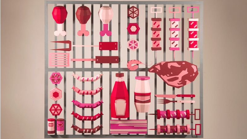 Illustration for article titled This Papercraft BBQ Will Make You Hungry Enough to Eat a Notebook