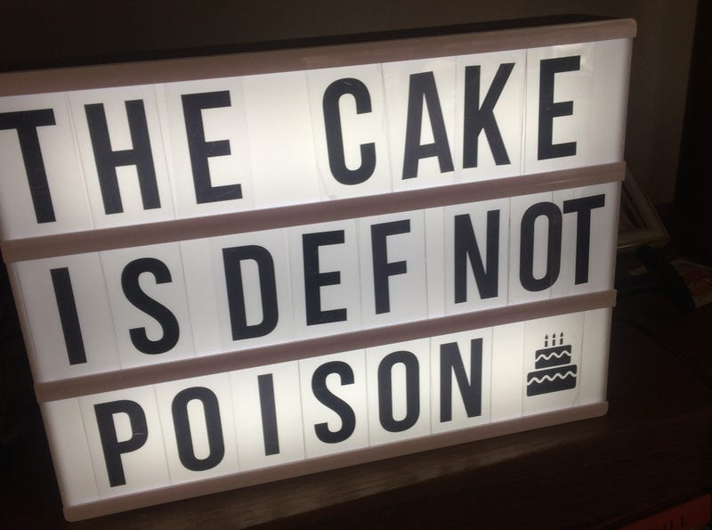 Illustration for article titled The Cake is Def Not Poison