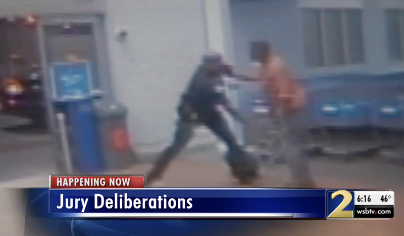 Assault of Tyrone Carnegay in 2014 (WSB-TV screenshot)