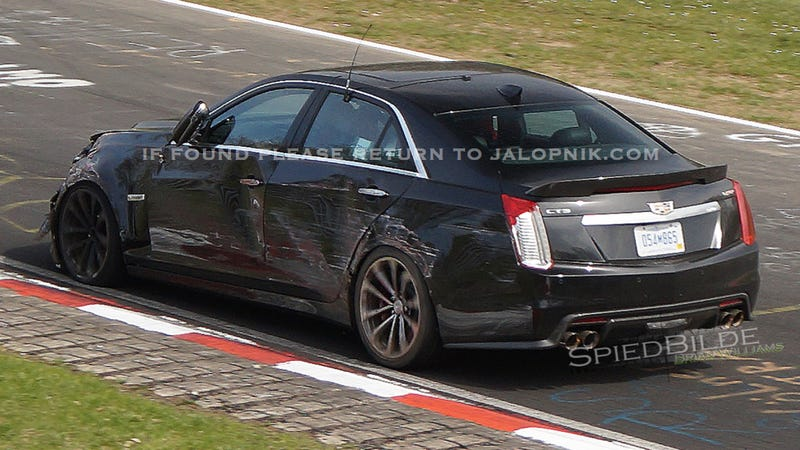 Illustration for article titled A Cadillac CTS-V Prototype Just Crashed At The Nurburgring