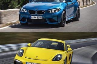 Illustration for article titled BMW M2 vs Porsche Cayman GT4