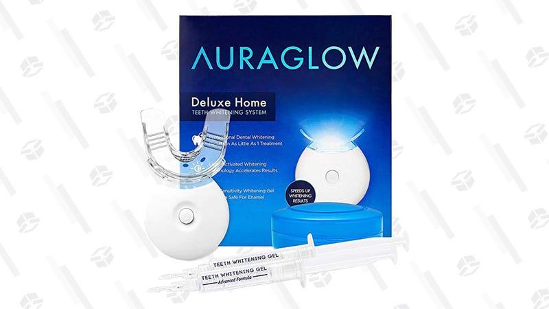 AuraGlow Teeth Whitening Kit | $46 | Amazon | Clip the $5 off coupon