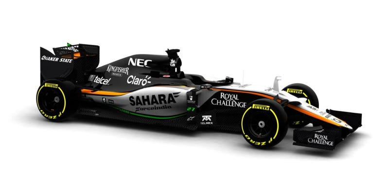 Illustration for article titled This Is The 2015 Force India VJM08 (Which Might Finally Show Up To Test)