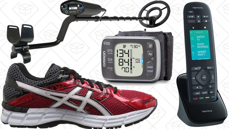 Illustration for article titled Saturday's Best Deals: Running Shoes, Harmony Remotes, Blood Pressure Monitor, and More