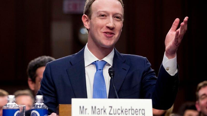Mark Zuckerberg testifying before Congress in April 2018.