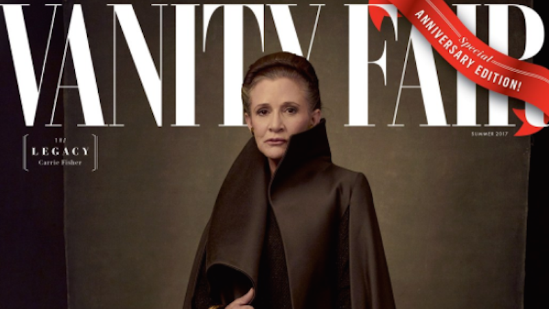 Here's Carrie Fisher in Her Last Magazine Cover Shoot as General Organa