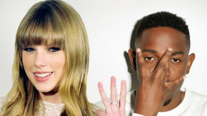 Illustration for article titled This new Taylor Swift/Kendrick Lamar mashup is almost shamefully catchy