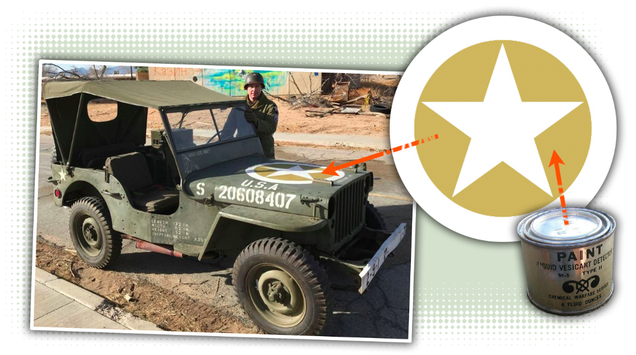 "If you ve ever seen a picture of a World War II Jeep with brown paint  between the points of its ""invasion star 8f449b821"