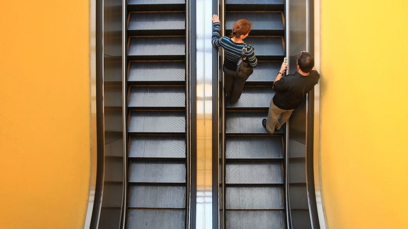 Illustration for article titled Woman Strangled To Death By Escalator. Nightmares Are Real.