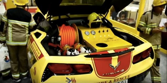 Dubai's Fire Truck Is A 200 MPH Corvette And Their