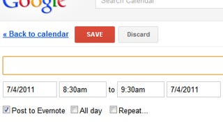 Illustration for article titled Eventnote for Chrome Adds Google Calendar Events to Evernote